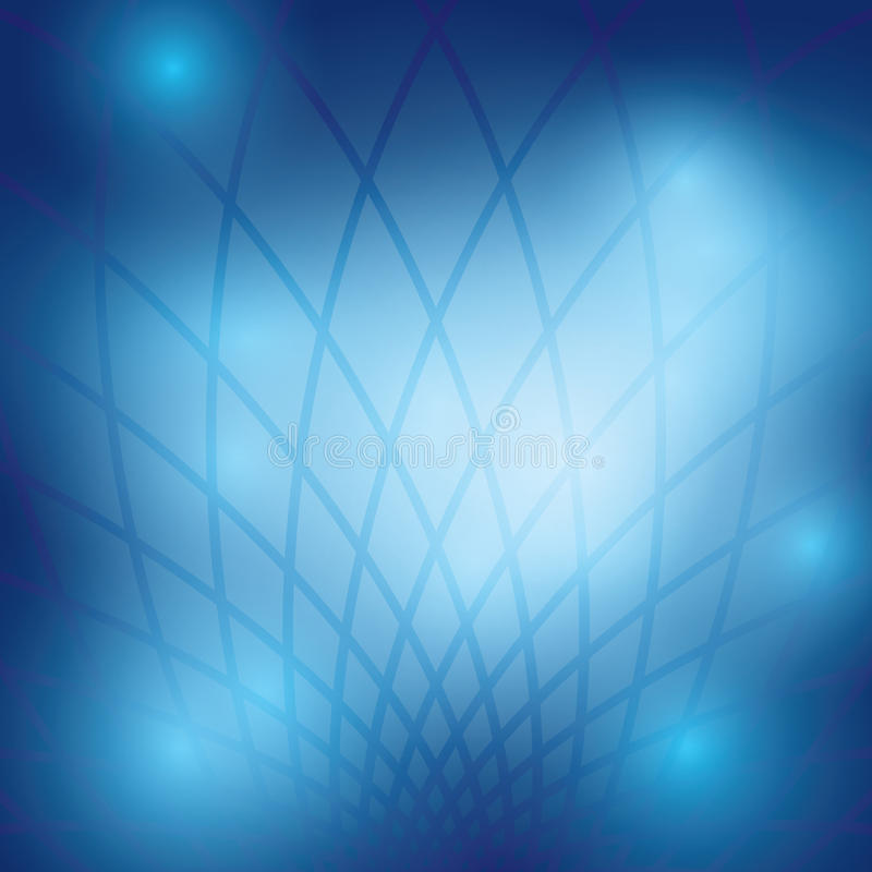 Donkerblauwe abstracte achtergrond met net - abstractie vector illustratie