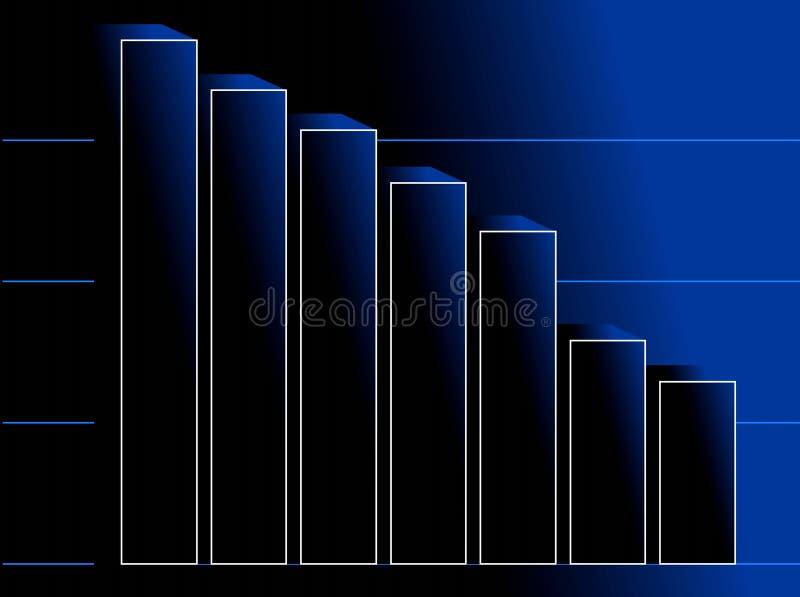Donkerblauwe achtergrond met diagram vector illustratie