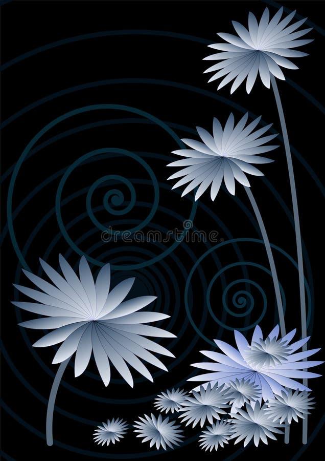 Donkerblauwe astersachtergrond royalty-vrije illustratie