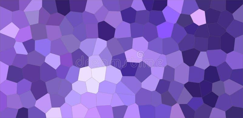 Donkerblauwe en purpere kleurrijke Middengrootte hexagon illustratie als achtergrond stock illustratie