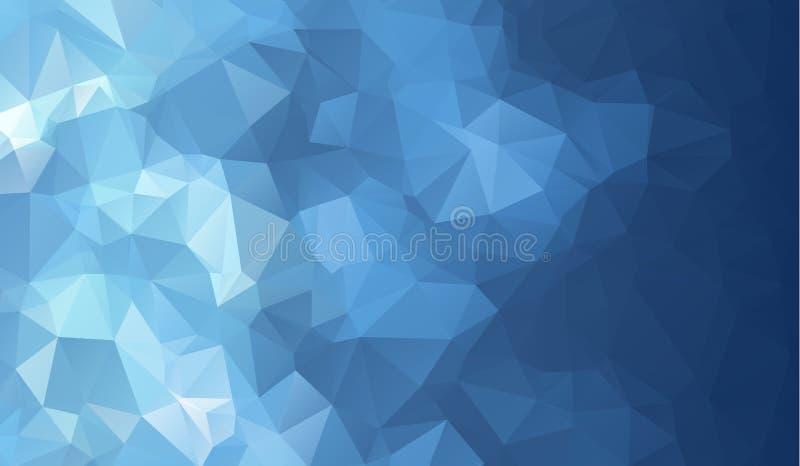 Donkerblauwe glanzende driehoekige achtergrond Creatieve geometrische illustratie in Origamistijl met gradiënt royalty-vrije illustratie