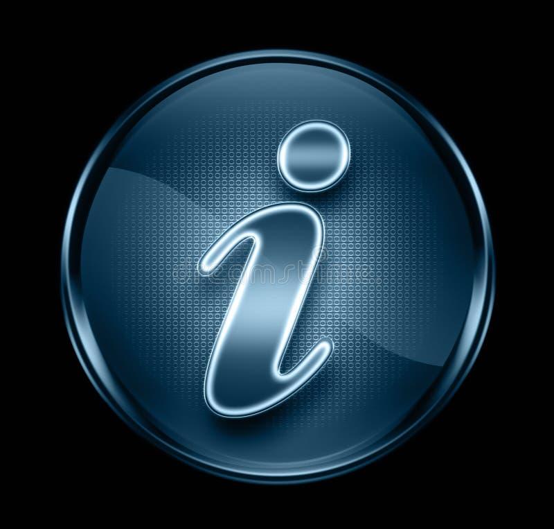 Donkerblauwe het pictogram van de informatie. royalty-vrije illustratie