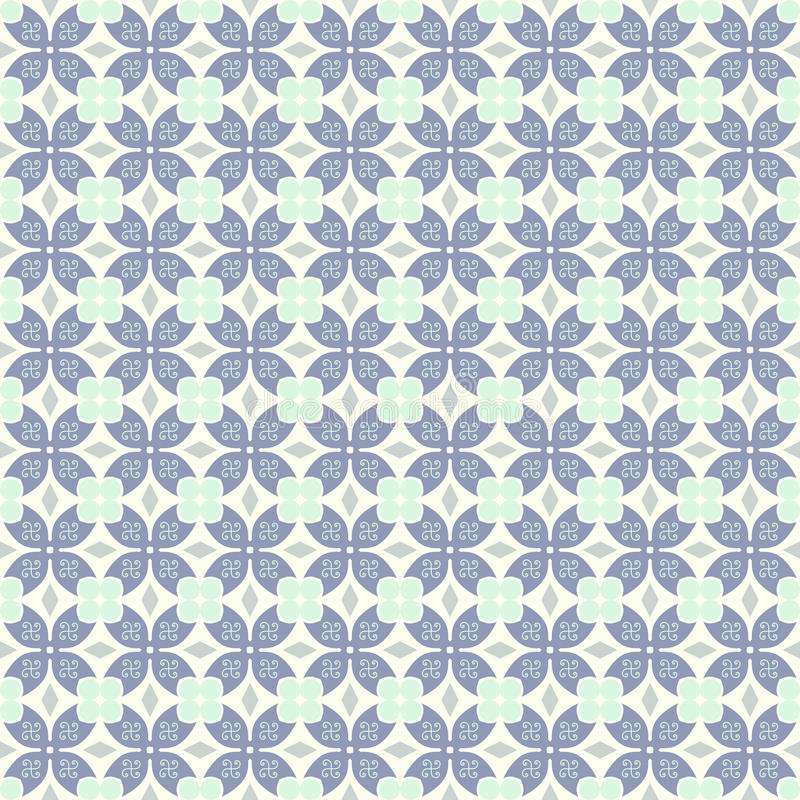 Donkerblauwe Klauw van Krab en Cirkel en Driehoek en Wervelingspatroon stock illustratie