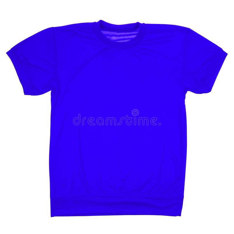 Donkerblauwe lege t-shirt (het Knippen weg) stock foto