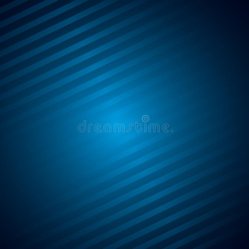 Donkerblauwe metaalachtergrond met lijnen stock illustratie