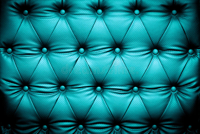 Donkerblauwe turkooise leertextuur met dichtgeknoopt patroon stock afbeelding