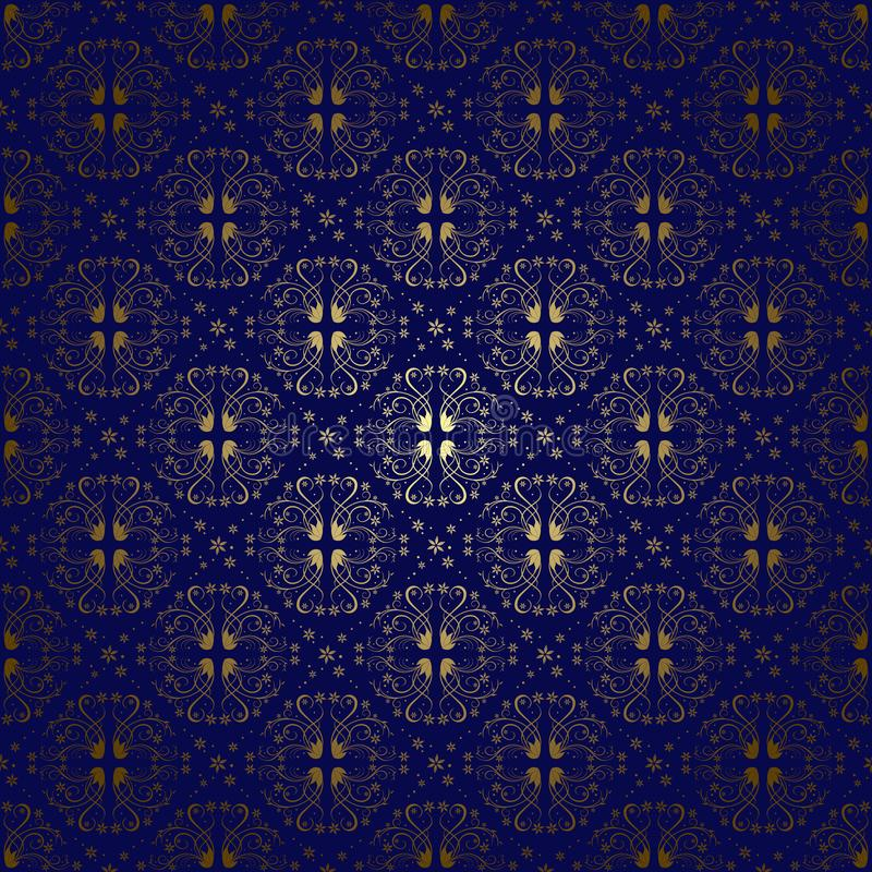 Donkerblauwe uitstekende achtergrond met gradiënt - vector stock foto