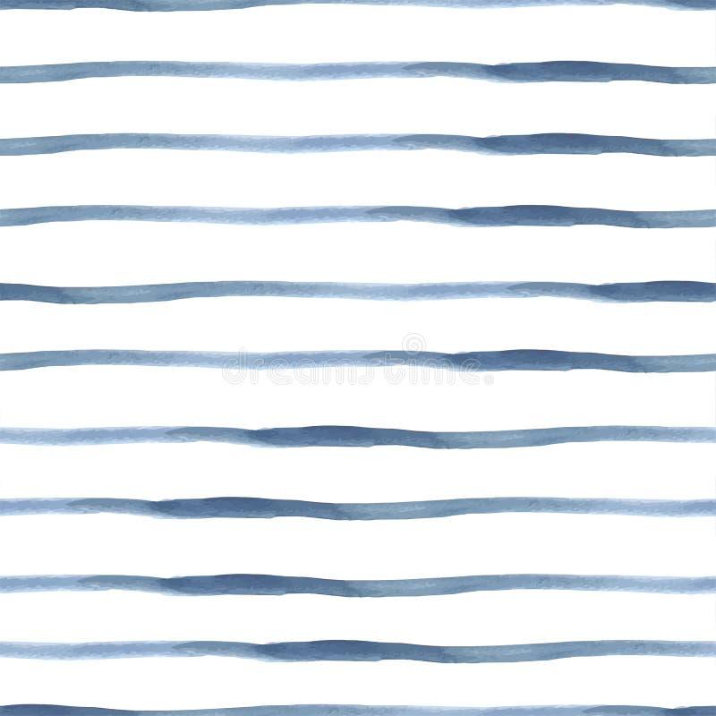 Donkerblauwe Vector Abstracte Naadloze Waterverf vector illustratie