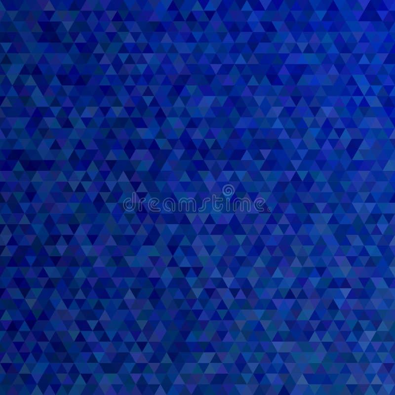 Donkerblauwe veelhoekige samenvatting betegelde driehoeksachtergrond - modern vector grafisch ontwerp stock illustratie