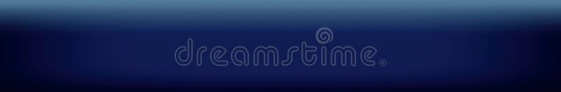 Donkerblauwe websitekopbal of footer achtergrond stock illustratie