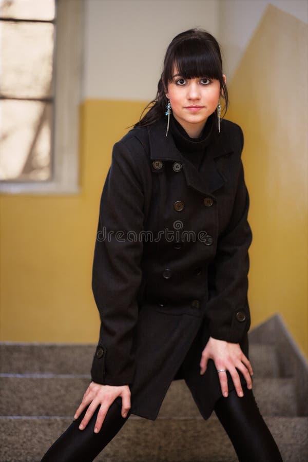 Donkerbruin meisje stock afbeelding