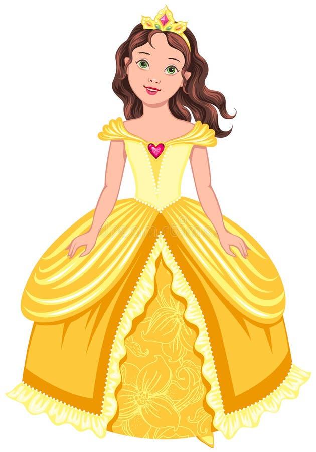 Donkerbruine prinses royalty-vrije illustratie