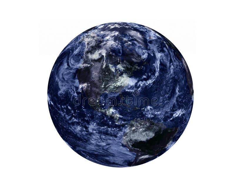 Donkere Aarde met ge?soleerde atmosfeer royalty-vrije stock fotografie