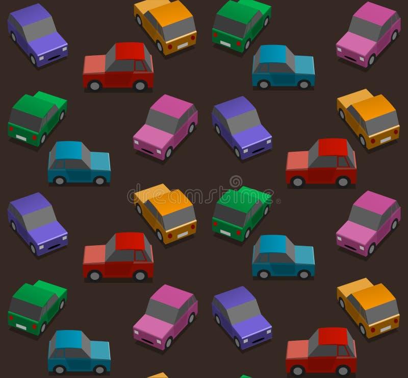 Donkere achtergrond met auto's vector illustratie
