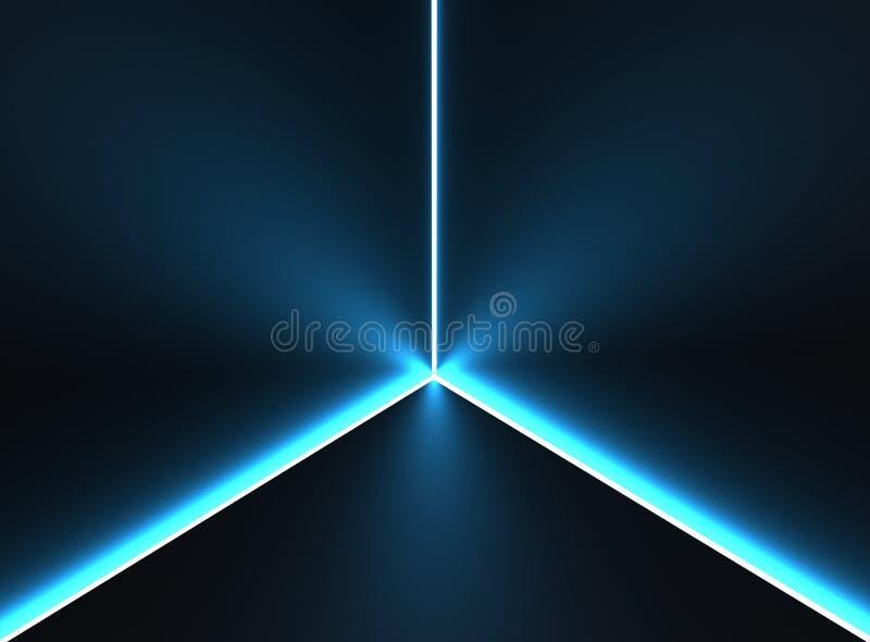 Donkere achtergrond met elektrische blauwe verlichting vector illustratie