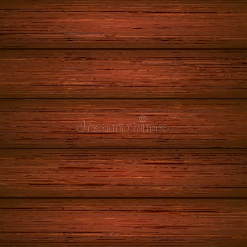 Donkere bruine houten plankentextuur royalty-vrije illustratie
