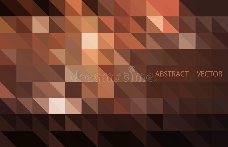 Donkere Bruine vector glanzende driehoekige achtergrond Glanzende illustratie, wat uit driehoeken bestaan stock illustratie
