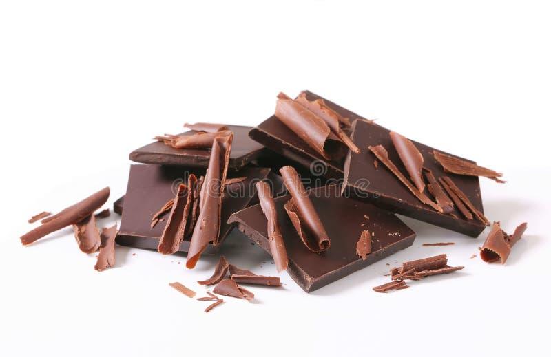 Donkere chocolade royalty-vrije stock foto's
