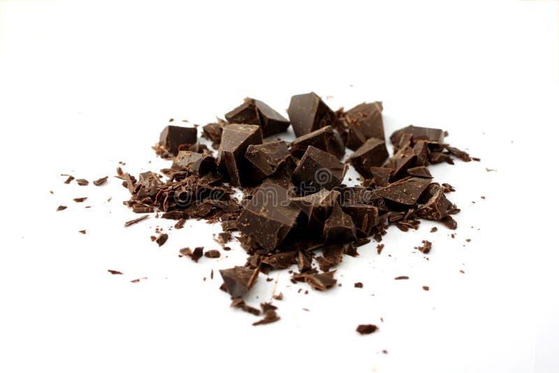 Donkere chocolade royalty-vrije stock afbeelding