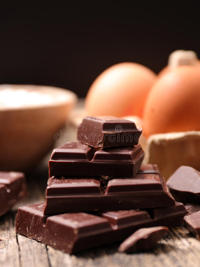 Donkere chocolade stock foto