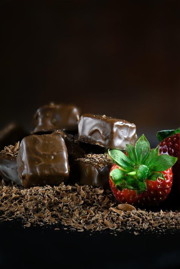 Donkere Chocolade Brownies II royalty-vrije stock foto
