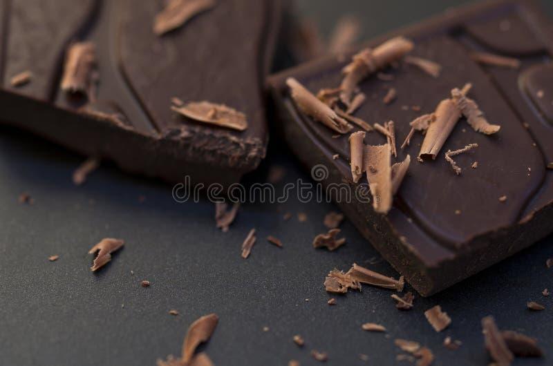 Donkere Chocolademacro stock foto's