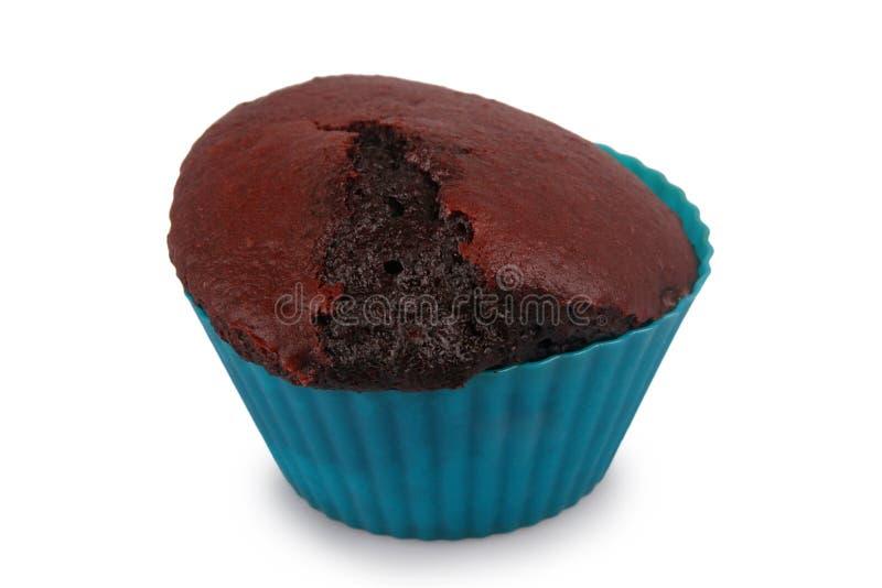 Donkere chocolademuffin stock foto's