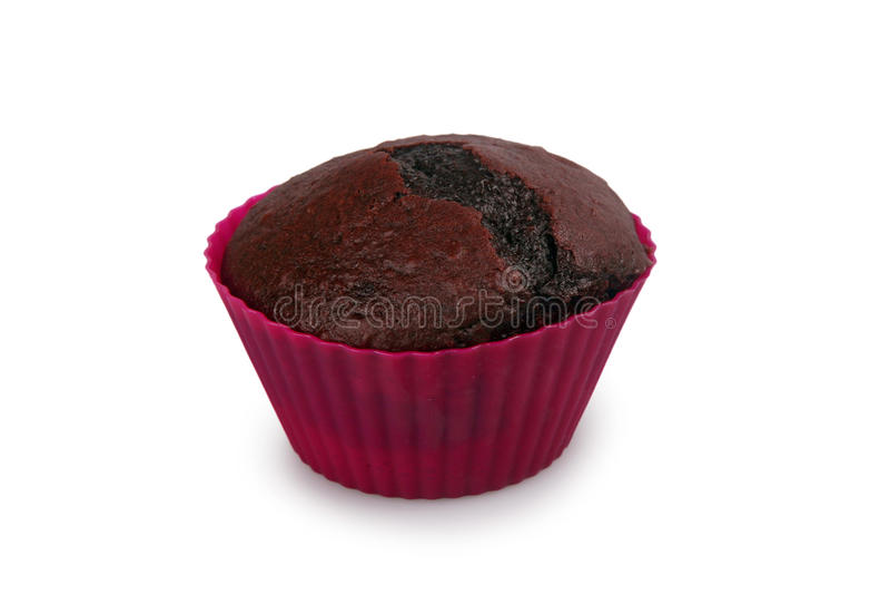 Donkere chocolademuffin royalty-vrije stock afbeelding