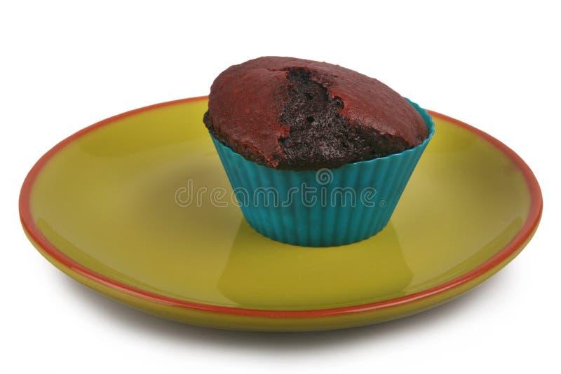 Donkere chocolademuffin stock afbeeldingen
