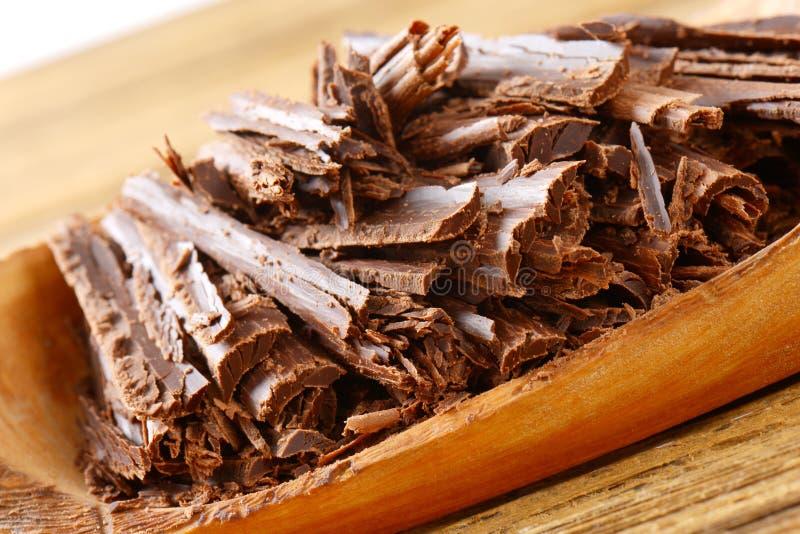 Donkere chocoladespaanders royalty-vrije stock afbeelding