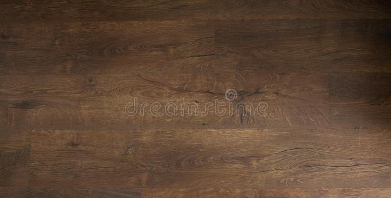 Donkere eiken vloer Houten vloer, eiken parket - houten bevloering, eiken laminaat royalty-vrije stock fotografie