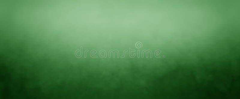 Donkere en lichtgroene achtergrond met witte wazige hoogste grens en donkere zwarte de bodemgrens van de grungetextuur, groen col royalty-vrije illustratie