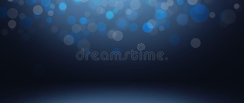 donkere en zachte blauwe abstracte cementmuur en studioruimte gradie royalty-vrije illustratie
