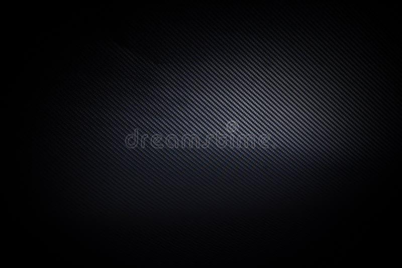 Donkere en zwarte van de koolstofvezel textuur als achtergrond stock afbeelding