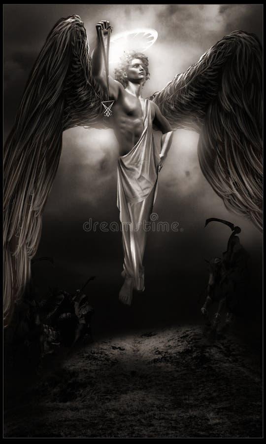 Donkere engel royalty-vrije illustratie