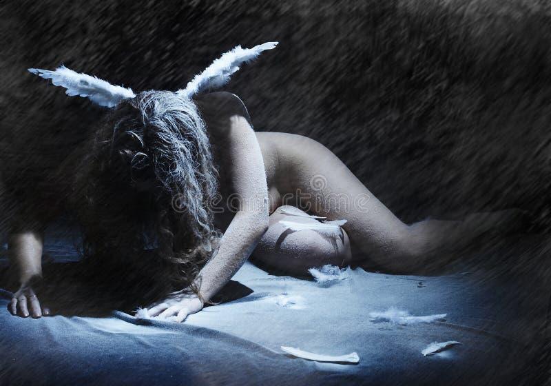 Donkere engel stock fotografie