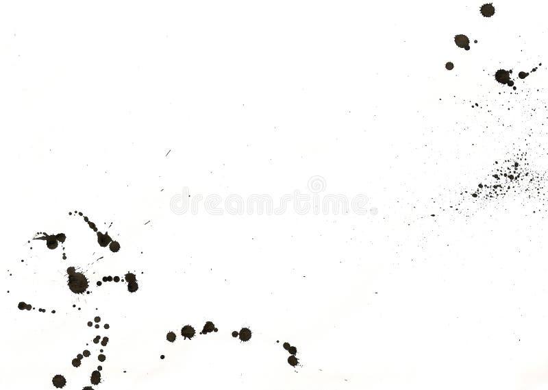 Donkere flarden op papier. royalty-vrije stock foto's