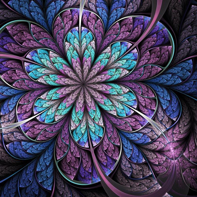 Donkere fractal bloem stock illustratie