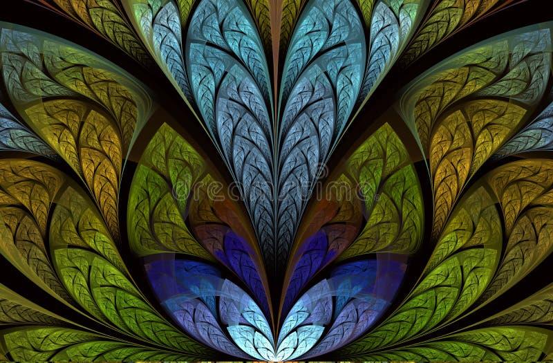 Donkere fractal, digitaal kunstwerk voor creatief grafisch ontwerp Mooie artistieke abstracte achtergrond royalty-vrije illustratie