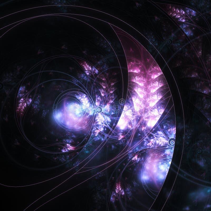 Donkere fractal vreemde installatie stock illustratie