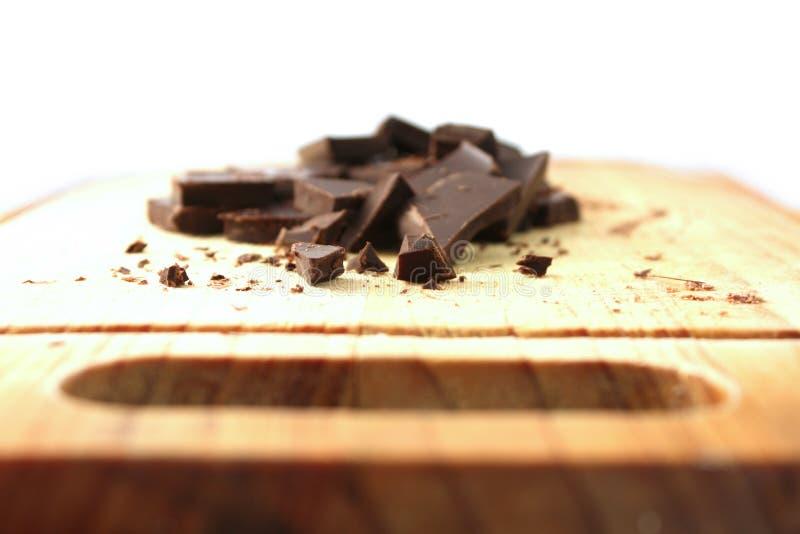 Donkere gehakte chocolade royalty-vrije stock foto