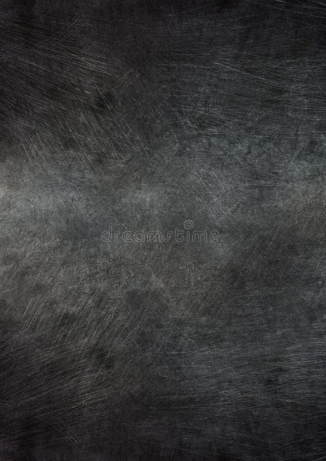 Donkere gekraste die oppervlakte van metaal wordt gemaakt stock foto's