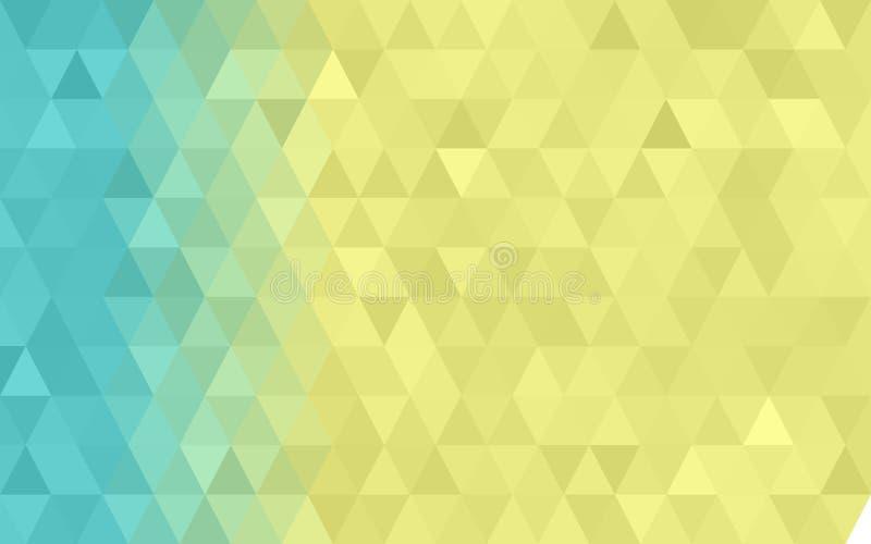 Donkere Gele, Blauwe driehoekige lage poly, de Achtergrond van het Mozaïekpatroon, Vectorillustratie grafische, Creatieve Zaken,  royalty-vrije illustratie