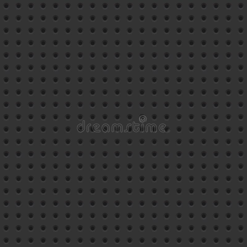 Donkere Geperforeerde Raads Naadloze Tegel Als achtergrond stock illustratie