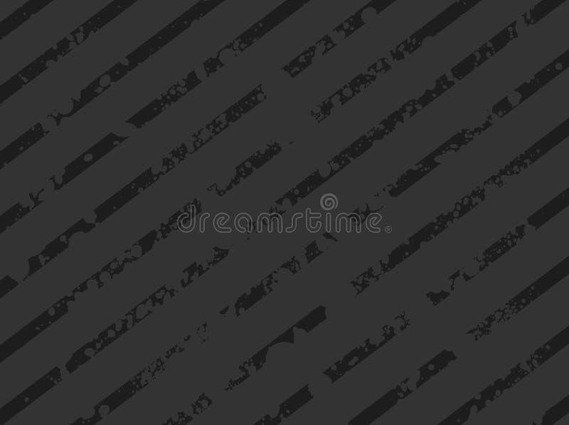 Donkere Gestreepte Achtergrond Grunge royalty-vrije illustratie
