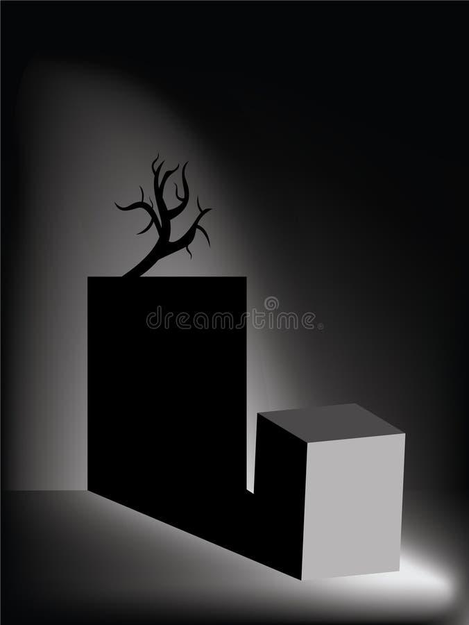 Donkere griezelige ruimte royalty-vrije stock afbeeldingen