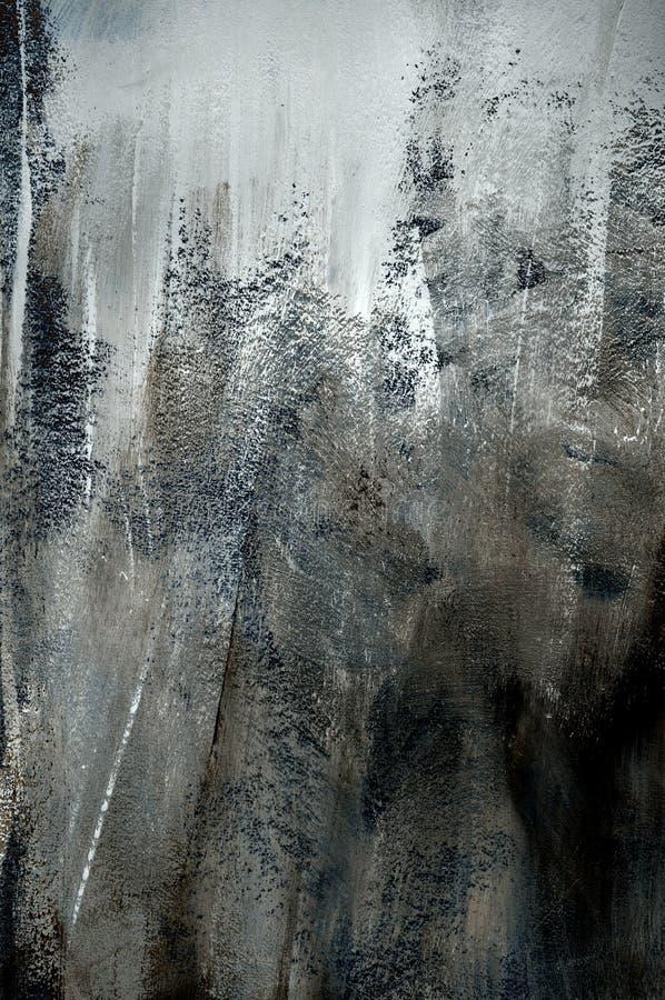 Donkere grijze achtergrond van ruwe verftextuur stock fotografie