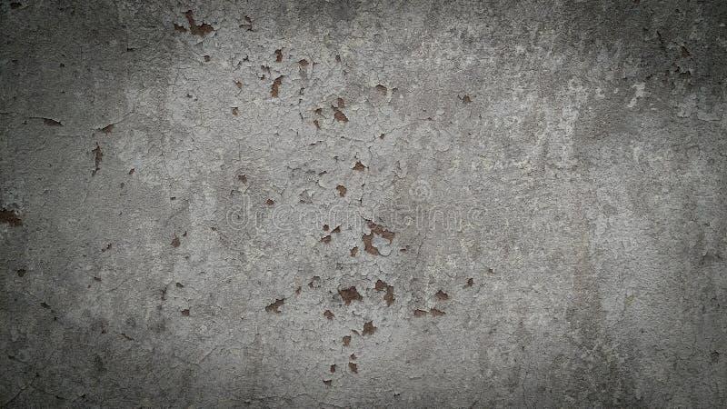 Donkere grijze concrete muur stock fotografie