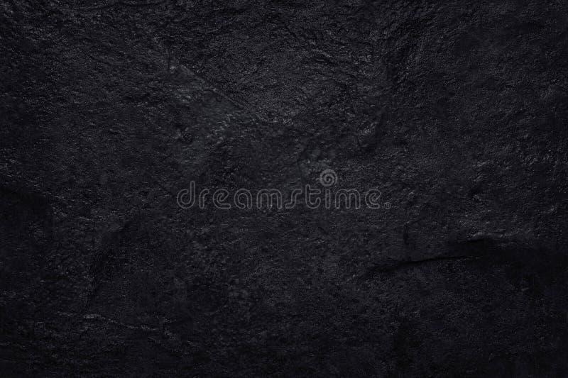 Donkere grijze zwarte leitextuur in natuurlijk patroon Zwarte steenmuur royalty-vrije stock foto