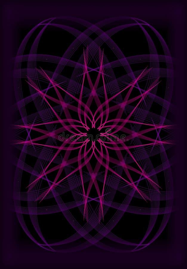 donkere hand drawnd geometrische illustratie stock afbeelding